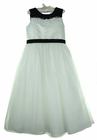 NEW Sarah Louise Exquisitely Beaded White Dress with Black Trim