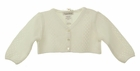 NEW Sarah Louise Ivory Bolero Sweater with Openwork