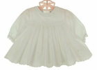 NEW Sarah Louise Ivory Eyelet Smocked Dress with Scalloped Eyelet Hem