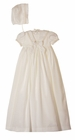NEW Sarah Louise Ivory Sailor Style Girls Christening Gown and Bonnet