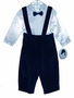 "<img src=""https://p11.secure.hostingprod.com/@grammies-attic.com/ssl/images/blue-sold-1.gif""> NEW Sarah Louise Navy Velvet Baby Suspender Pants with White Satin Pintucked Shirt and Bowtie"