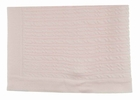 NEW Sarah Louise Pale Pink Cable Stitched Blanket