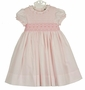 NEW Sarah Louise Pink Batiste Smocked Dress with Pink Embroidered Bows