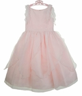 NEW Sarah Louise Pink Organdy Dress with Delicate Overlay and Sequins