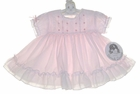 "<img src=""https://p11.secure.hostingprod.com/@grammies-attic.com/ssl/images/blue-sold-1.gif""> NEW Sarah Louise Pink Ruffled Dress with Bows Lace and Embroidery"