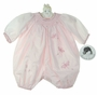 """<img src=""""https://p11.secure.hostingprod.com/@grammies-attic.com/ssl/images/blue-sold-1.gif""""> NEW Sarah Louise Pink Smocked Bubble with Embroidered Fireflies"""