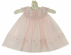 "<img src=""https://p11.secure.hostingprod.com/@grammies-attic.com/ssl/images/blue-sold-1.gif""> NEW Sarah Louise Pink Smocked Dress with Ruffled Pintucked Collar and Matching Diaper Cover"