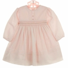 "<img src=""https://p11.secure.hostingprod.com/@grammies-attic.com/ssl/images/blue-sold-1.gif""> NEW Sarah Louise Pink Voile Smocked Dress with Delicate Crystal Beading"