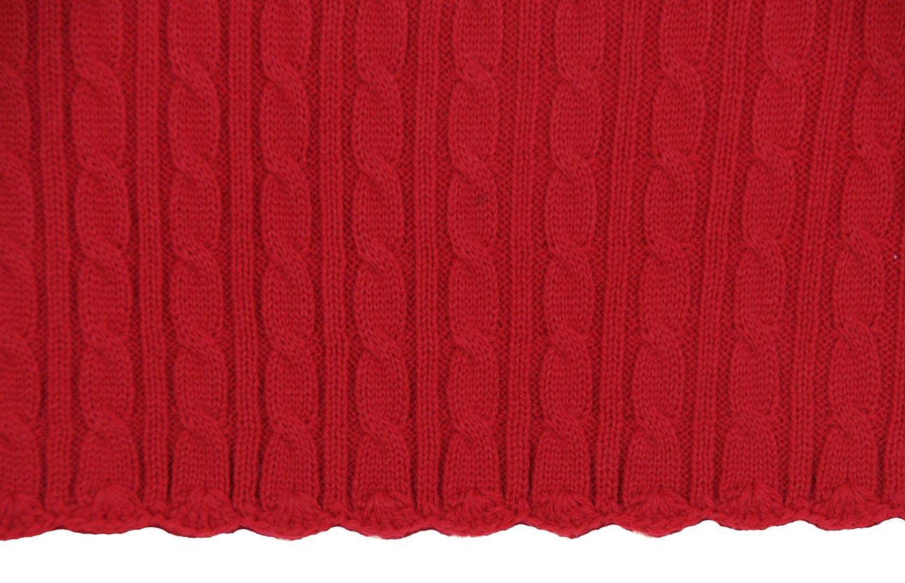 Sarah Louise Red Cable Knit Dress For Baby Girls Red Cable