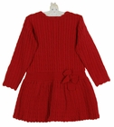 NEW Sarah Louise Red Cable Knit Dress for Toddlers
