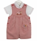 "<img src=""https://p11.secure.hostingprod.com/@grammies-attic.com/ssl/images/blue-sold-1.gif""> NEW Sarah Louise Red Checked Romper with Truck and Crayon Embroidery"