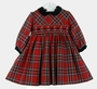 "<img src=""https://p11.secure.hostingprod.com/@grammies-attic.com/ssl/images/blue-sold-1.gif""> NEW Sarah Louise Red Plaid Smocked Dress with Black Velvet Collar"