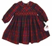 "<img src=""https://p11.secure.hostingprod.com/@grammies-attic.com/ssl/images/blue-sold-1.gif""> NEW Sarah Louise Red Plaid Smocked Dress with Red Velvet Ribbon Insertion"