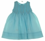 "<img src=""https://p11.secure.hostingprod.com/@grammies-attic.com/ssl/images/blue-sold-1.gif""> NEW Sarah Louise Teal Voile Smocked Dress with Pink Embroidered Flowers"
