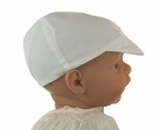 NEW Sarah Louise White Boys Hat with Embroidery