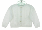 NEW Sarah Louise White Cotton Cardigan Sweater with Diamond Stitching