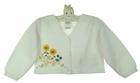 NEW Sarah Louise White Cardigan Sweater with Floral Embroidery