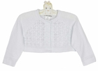 NEW Sarah Louise White Cotton Knit Sweater with Delicate Openwork