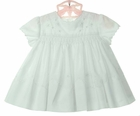 "<img src=""https://p11.secure.hostingprod.com/@grammies-attic.com/ssl/images/blue-sold-1.gif""> NEW Sarah Louise White Eyelet Smocked Dress with Scalloped Neck and Sleeves"