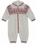 NEW Sarah Louise White Knit Romper with Fair Isle Accents