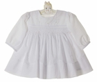 NEW Sarah Louise White Smocked Dress with Delicate Beading and Embroidery