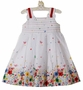 NEW Sarah Louise White Sundress with Bright Floral Print Hem