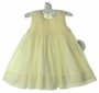 NEW Sarah Louise Yellow Sleeveless Voile Smocked Dress
