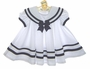 """<img src=""""https://p11.secure.hostingprod.com/@grammies-attic.com/ssl/images/blue-sold-1.gif""""> NEW Shirley Temple Style White Pleated Sailor Dress"""