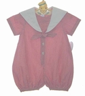 NEW Sophie Dess Red Striped Sailor Romper with White Trim