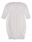 NEW Squiggles by Charlie White Pima Cotton Knit Gown with Embroidered Cross