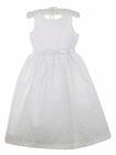 NEW Swea' Pea and Lilli White Cotton Eyelet Dress with Bow Accent