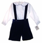 "<img src=""https://p11.secure.hostingprod.com/@grammies-attic.com/ssl/images/blue-sold-1.gif""> NEW Therese Blue Velvet Suspendered Shorts Set"