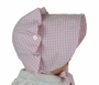 "<img src=""https://p11.secure.hostingprod.com/@grammies-attic.com/ssl/images/blue-sold-1.gif"">  NEW Vintage Style Beaufort  Bonnet in Pink Checked Gingham"