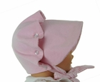 NEW Vintage Style Beaufort Bonnet in Pink Corduroy and Pink Checked Flannel