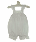 NEW White Baby Sunsuit with Eyelet Trim