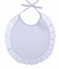 NEW White Batiste Bib with Eyelet Trim