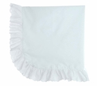 NEW White Batiste Monogrammable Blanket with Eyelet Trim
