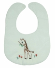 """<img src=""""https://p11.secure.hostingprod.com/@grammies-attic.com/ssl/images/blue-sold-1.gif""""> NEW White Bib with Vintage Style Giraffe Embroidery"""