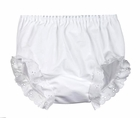 NEW White Diaper Cover/Panty with Eyelet Trimmed Leg Openings