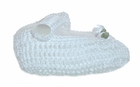 "<img src=""https://p11.secure.hostingprod.com/@grammies-attic.com/ssl/images/blue-sold-1.gif"">  NEW White Hand Crocheted Mary Jane Style Baby Booties"