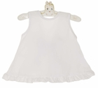 NEW White Monogrammable Swing Top with Back Bow