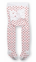 NEW White Tights with Red Dots and White Ruffles