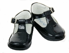 """<img src=""""https://p11.secure.hostingprod.com/@grammies-attic.com/ssl/images/blue-sold-1.gif""""> NEW Will'Beth Black Patent Leather T-Strap Shoes for Babies"""