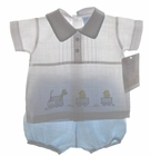 """<img src=""""https://p11.secure.hostingprod.com/@grammies-attic.com/ssl/images/blue-sold-1.gif""""> NEW Will'Beth Blue and White Linen Diaper Set with Train and Ducks Embroidery"""