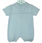 """<img src=""""https://p11.secure.hostingprod.com/@grammies-attic.com/ssl/images/blue-sold-1.gif""""> NEW Will'Beth Blue Cotton Cablestitched Romper"""
