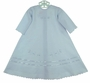NEW Will'Beth Blue Cotton Daygown with Pintucks and Embroidery