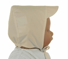 NEW Will'Beth Boys Ivory Pintucked Hat with Ties