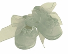 """<img src=""""https://p11.secure.hostingprod.com/@grammies-attic.com/ssl/images/blue-sold-1.gif""""> NEW Will'Beth Ivory Silk Shoes with Lace, Ribbon Roses, and Seed Pearls"""