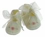 NEW Will'Beth Ivory Smocked Shoes with Pink Embroidered Flowers