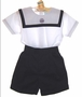 NEW Will'Beth Navy and White Sailor Shorts Set for Babies and Toddlers